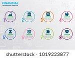 financial infographic template...   Shutterstock .eps vector #1019223877