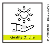 quality of life vector icon | Shutterstock .eps vector #1019226997