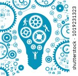gears and people icons form the ... | Shutterstock .eps vector #1019231323