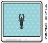 lobster flat vector icon. | Shutterstock .eps vector #1019241607