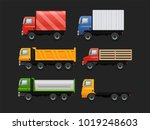 vector set of various urban and ... | Shutterstock .eps vector #1019248603