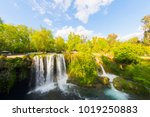 view of the waterfall upper... | Shutterstock . vector #1019250883