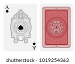 ace of spades face with spades... | Shutterstock .eps vector #1019254363