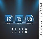 countdown web site vector flat...   Shutterstock .eps vector #1019256493