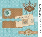 scrapbook design elements  ... | Shutterstock .eps vector #101926027