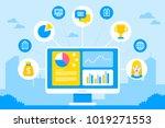 crm customer relationship... | Shutterstock .eps vector #1019271553
