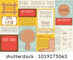 fast food   pizza  hot dog ... | Shutterstock .eps vector #1019275063