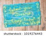 motivational quote written on... | Shutterstock . vector #1019276443