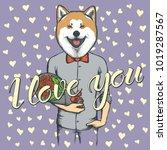 vector valentine day concept.... | Shutterstock .eps vector #1019287567