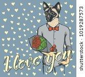 vector valentine day concept.... | Shutterstock .eps vector #1019287573