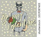 vector valentine day concept.... | Shutterstock .eps vector #1019287603