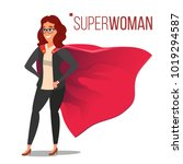 superhero business people... | Shutterstock .eps vector #1019294587