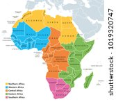 africa regions political map... | Shutterstock .eps vector #1019320747