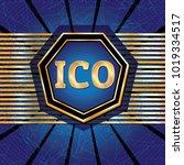 ico and token conceptual design ...   Shutterstock . vector #1019334517