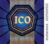 ico and token conceptual design ...   Shutterstock . vector #1019334523