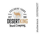 camel logo template concept.... | Shutterstock .eps vector #1019336257