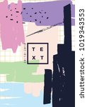 abstract design for invitation  ...   Shutterstock .eps vector #1019343553