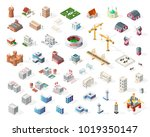 collection of realistic... | Shutterstock .eps vector #1019350147