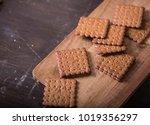 rye graham crackers on dark... | Shutterstock . vector #1019356297