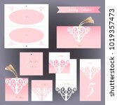 wedding design templates.... | Shutterstock .eps vector #1019357473