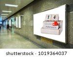 billboard at under ground or... | Shutterstock . vector #1019364037