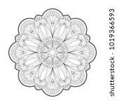 flower mandala. vintage round...   Shutterstock .eps vector #1019366593