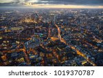 arial view of london at dusk   Shutterstock . vector #1019370787