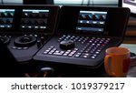 telecine controller machine for ...   Shutterstock . vector #1019379217