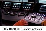 telecine controller machine for ... | Shutterstock . vector #1019379223