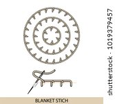 stitches blanket stich type... | Shutterstock .eps vector #1019379457