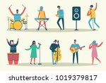 vector set in a flat style of... | Shutterstock .eps vector #1019379817