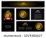 happy anniversary design card... | Shutterstock .eps vector #1019383627