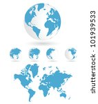 world map | Shutterstock .eps vector #101939533
