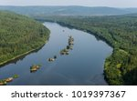 landscape with a river and... | Shutterstock . vector #1019397367