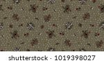 seamless floral pattern in... | Shutterstock .eps vector #1019398027