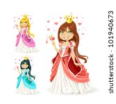 beautiful fairy princess in a... | Shutterstock .eps vector #101940673