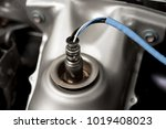 oxygen sensor on new modern ca | Shutterstock . vector #1019408023
