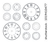 clock face set with roman and...   Shutterstock .eps vector #1019410477