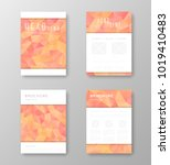 brochure template layout with... | Shutterstock .eps vector #1019410483