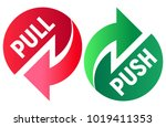 pull and push. vector... | Shutterstock .eps vector #1019411353