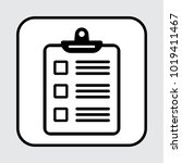 clipboard or checklist icon.... | Shutterstock .eps vector #1019411467