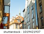 empty streets of the old town... | Shutterstock . vector #1019421937
