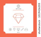 diamond sign. jewelry symbol.... | Shutterstock .eps vector #1019426203