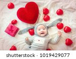 new born in rabbit fancy dress... | Shutterstock . vector #1019429077