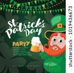 saint patricks day party...   Shutterstock .eps vector #1019436673