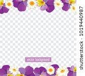 floral borders on transparent... | Shutterstock .eps vector #1019440987