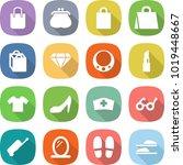 flat vector icon set   shopping ... | Shutterstock .eps vector #1019448667