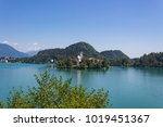 lake bled with st. mary's...   Shutterstock . vector #1019451367
