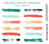 watercolor  ink or paint brush... | Shutterstock .eps vector #1019452057
