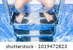 child girl sitting on the... | Shutterstock . vector #1019472823